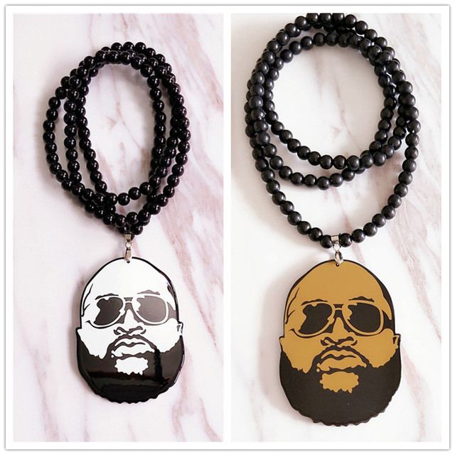 Brand new hiphop rap punk style hight qualuity bearded man acrylic brand new hiphop rap punk style hight qualuity bearded man acrylic pendants necklace for personality jewelry mozeypictures Image collections