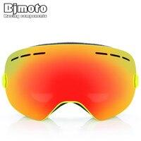 BJMOTO 7 Colors Ski Snowboard Motorcycle Goggles Sport Off Road Motorcycle Helmet Glasses Anti Fog Sunglasses Skiing Mask
