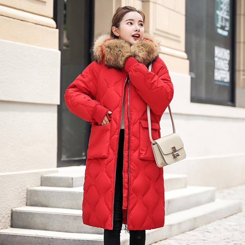 Manteau Lj0835 Coton Femme Rembourré Chaud Haute Épaissir Plus Vestes La Taille Beige rouge Qualité Parka Tendance Femmes coffee À Capuchon En Long noir Hiver QdxtshrC