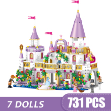 731PCS Small Building Blocks Toys Princess Windsor Castle Building Blocks Sets Bricks Classic Model Kids Gift Toys Birthday Gift hot new girl city princess villa windsor castle building blocks sets bricks classic model kids gift toy legoings friends