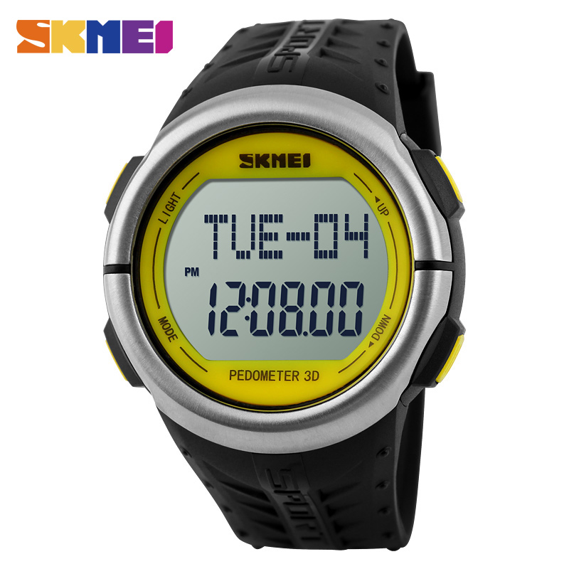 SKMEI Men Watch Heart Rate Outdoor Sports Watches Pedometer Digital Men's Watches Wristwatches Electronic Relogio Masculino 1058 все цены