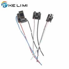KELIMI H1 H4 H7 Female Adapter Sockets pigtail Harness Plug Connector For H1 H4 H7 halogen hid led Retrofit