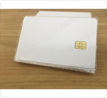 50 sztuk partia darmowa wysyłka białe puste karty pcv z sle4442 chip kontakt karta IC kontakt kart inteligentnych tanie i dobre opinie Pasywne Karty Karty IC kontakt Odczytu zapisu 13 56 MHz ISO Karty 85 5*54mm HVTSQGJ