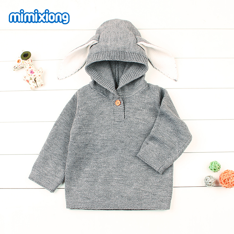 Funny Rabbit Ears Baby Boys Knitted Sweaters Pullovers Cute Animal Pattern Children Kids Winter Clothing Toddler Infant Knitwear 2018 autumn winter boys sweaters fashion blue kids knit pullovers jumper solid long sleeve toddler knitwear top children clothes page 2