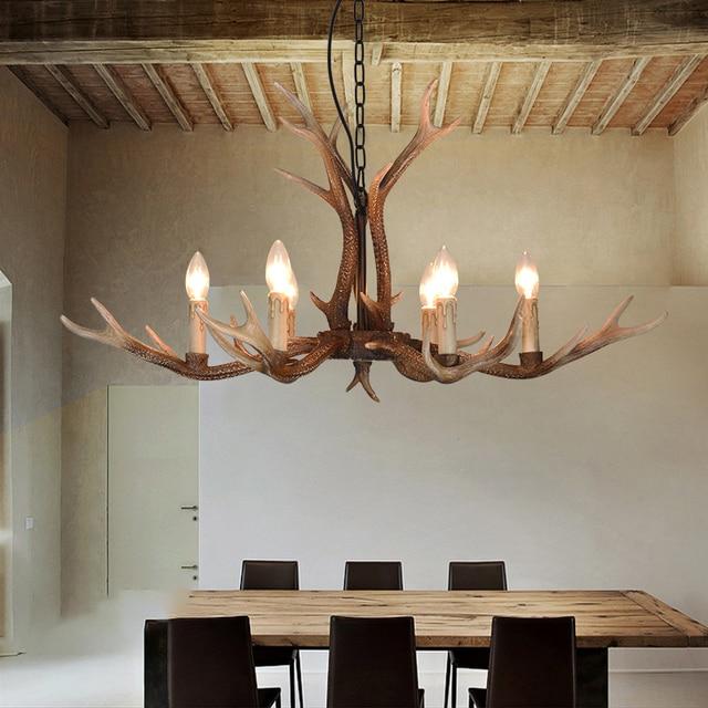 New Modern Antlers chandelier lighting for Living room Nordic loft ...