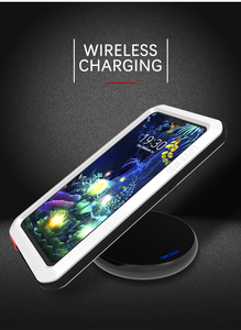 Image 5 - ل LG V50 الحب مي العلامة التجارية حقيبة لجهاز LG V50 ThinQ مكافحة طرقت معدن الألومنيوم وعرة مع شحن المقسى طبقة غوريلا جلاس حالة غطاء