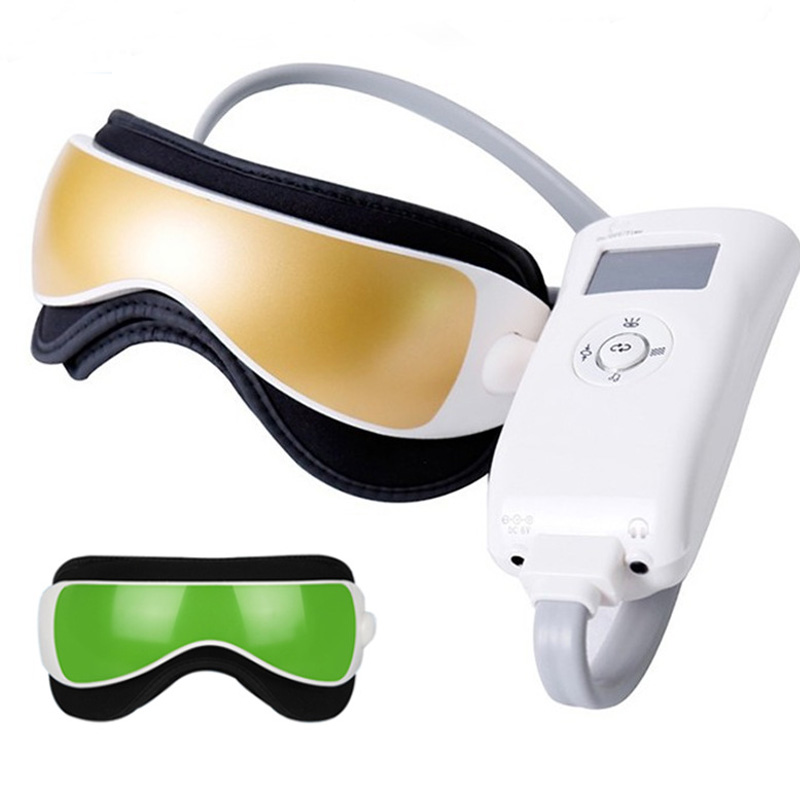 Thermal Music Eye Massage Air Pressure Vibration Magnetic Eyes Glasses Relax Machine Myopia Prevention Eyes Care Heating Therapy wireless usb intelligent air pressure eye massager far infrared heating functions eye relax massager glasses myopia prevention