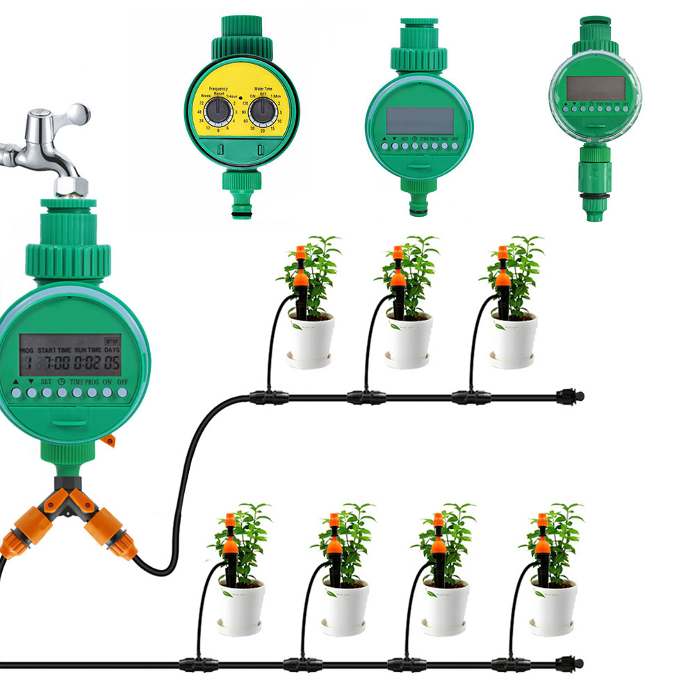 Digital Watering Timer Garden Automatic Electronic Water Timer Home Garden Irrigation Timer Controller System Irrigation Timer(China)