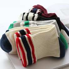 Autumn New Product Goods In stock Tube Day Three Bar PULL Woolen You Search Lovers Men And nonsupport Ventilation Cotton Socks(China)