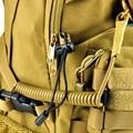 Multifuncional anti-perdida cuerda elástica cuerda acampar al aire libre de los aficionados militares tácticos arma del resorte elástico cuerda cuerda llavero
