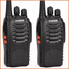 Rádio e walkie talkie portátil baofeng, rádio com transmissor uhf cb de duas vias pçs/lote e 2 bf 888s 888s