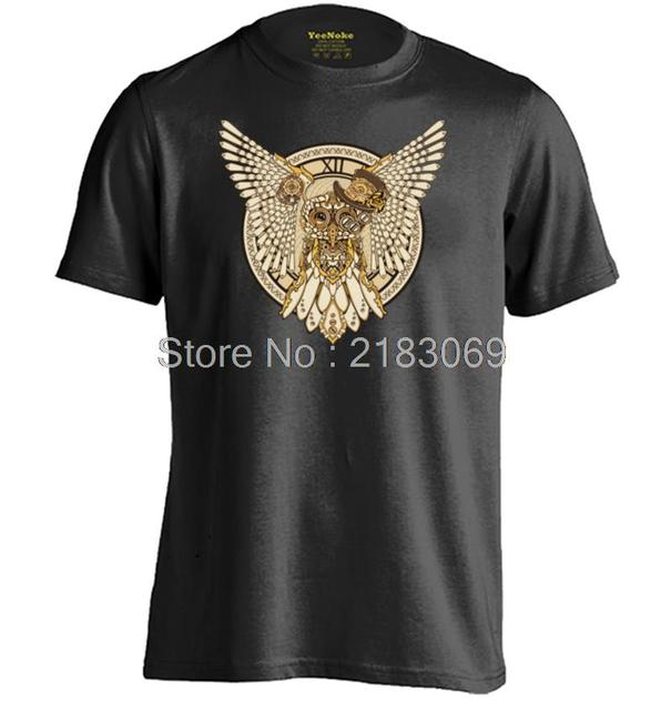 Steampunk Owl Mens & Womens Short Sleeve Cotton Personalized T Shirt