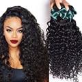 7A Peruvian Virgin Hair Water Wave Virgin Hair 3Bundles Peruvian Kinky Curly Virgin Hair Peruvian Curly Weave Human Hair Bundles