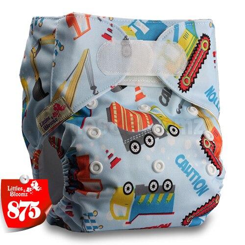 [Littles&Bloomz] Детские Моющиеся Многоразовые, настоящая стандартная ткань, застежка-липучка, карман для подгузников, пеленки, обертывание, подходит для рождения в горшке - Цвет: 875