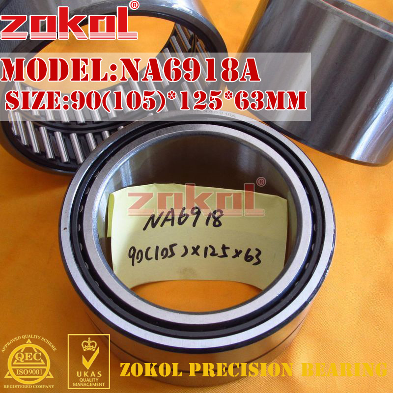 ZOKOL bearing NA6918 A NA6918A Entity ferrule needle roller bearing 90(105)*125*63mm rna4913 heavy duty needle roller bearing entity needle bearing without inner ring 4644913 size 72 90 25