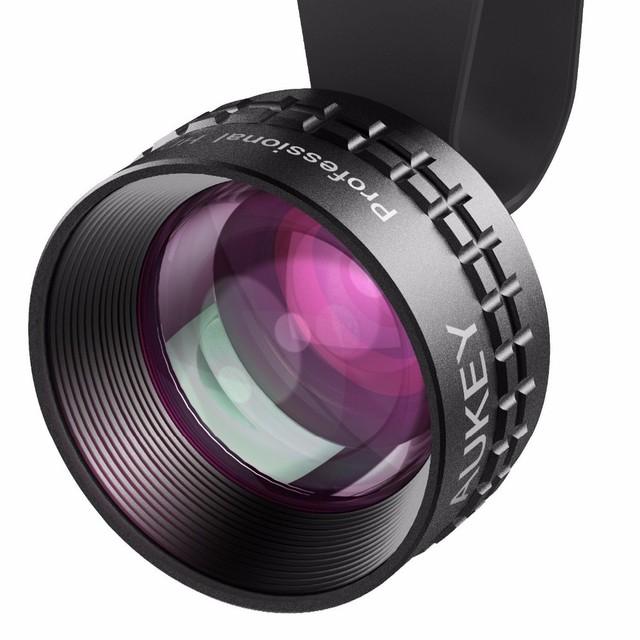 Aukey Óptica Pro Lente 2X HD Teleobjetivo Lente de la Cámara kit de Teléfono Celular 2x tan cerca sin distorsión sin círculo oscuro para iphone 6/6 s