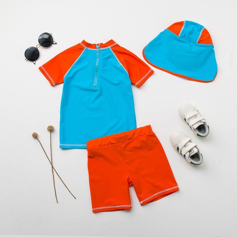 5ed9dffb69 Baby Boys Swimsuit Dinosaur 2 Piece Rashguard & Swim Trunks Set UPF50+  Sunsuit Sun Protective Toddler Boy Swimming Bathing Suits-in Swimwear from  Mother ...