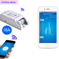Sonoff Pow WiFi Remote Control Switch 16A Power Consumption Measurement AC85 250v 3500w Wireless Timer Switches
