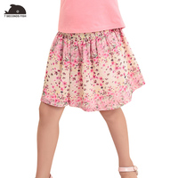 2017 Floral Chiffon Beach Mini Brand Pleated Girls Skirts Summer Style Baby Casual Teenage Children Clothing