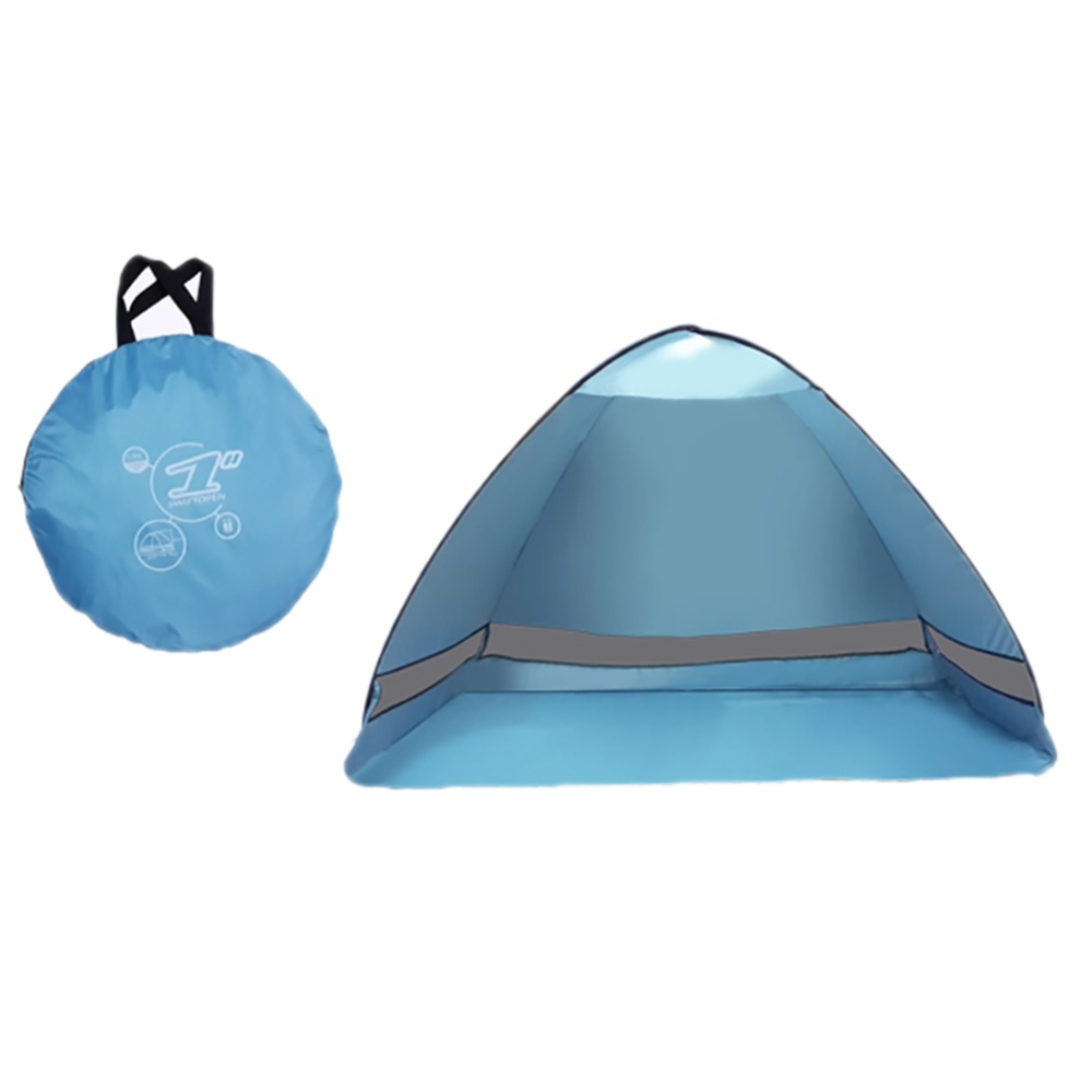 2017 Sun Shade Outdoor Camping Tent Hiking Beach Summer Tent UV Protection Fully Automatic Sun Shade Portable Pop up Beach Tent 1x 200 200 160cm summer outdoor camping sun shelter uv protection beach shade fishing tent portable roof tent for swimming boat