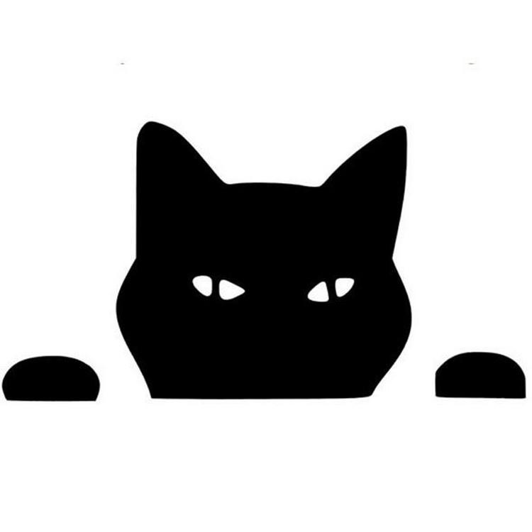 Peeping Cat Car Decal