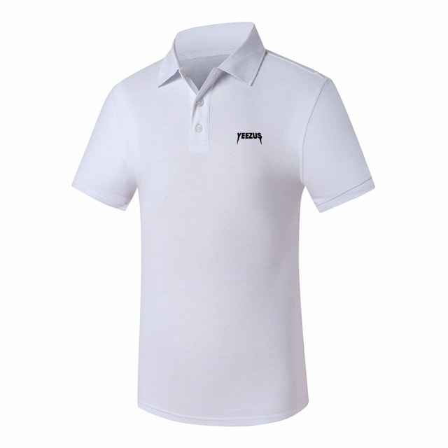 Camisa Polo Мужской Лето Polo Рубашка Бренд Для Mens Polo Женщины мужская polo shirt Хлопок Yeezus Печатных Одежда Короткие рукава