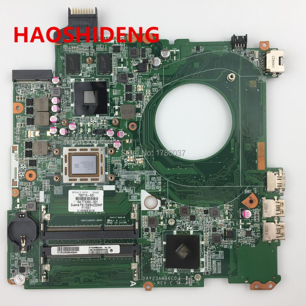 766715-001 766715-501 DAY23AMB6C0 Y23A for HP PAVILION 15-P 15Z-P motherboard .All functions fully Tested ! 763424 501 day23amb6c0 y23a fit for hp pavilion 17 17 f motherboard a10 5745m cpu all functions 100