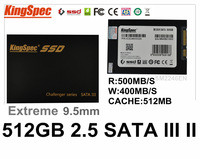 Kingspec Metal Case 2.5 SATA 3 & SATA 2 SSD 512GB HDD hd 500GB hard disk sata 2.5 Solid State Drives SM2246EN With Cache:512MB