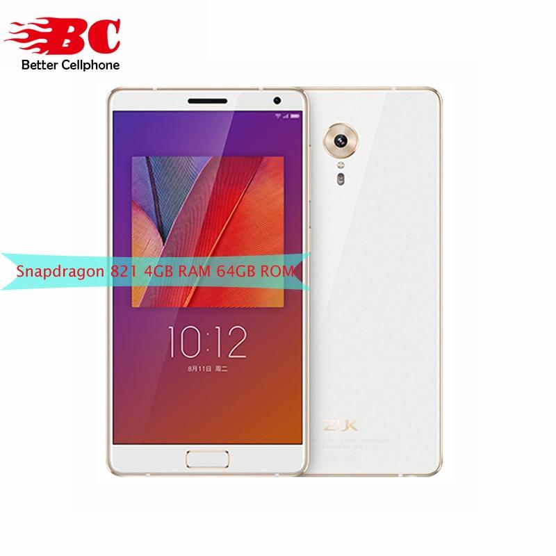 Original Lenovo ZUK Edge 4G LTE cell phone 4G RAM 64G ROM Snapdragon 821 2 35GHz