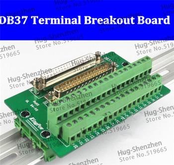D-SUB DB37 Male / Female Header Breakout Board, din rail module Terminal Block, Connector  45pcs/lot  FOR Special Customer
