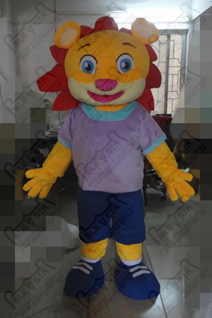 81b00be64 custom sports lion mascot costumes red hair hand make lion costumes cartoon  happy animal costumes