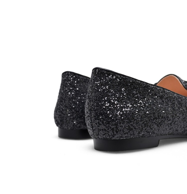 Original Intention New Gorgeous Women Flats Glitter Pointed Toe Flat Shoes  Black Blue White Silver Shoes US Size 4-10.5. Please Refer to Our Sizing  Info ... 2ada7c92c37c