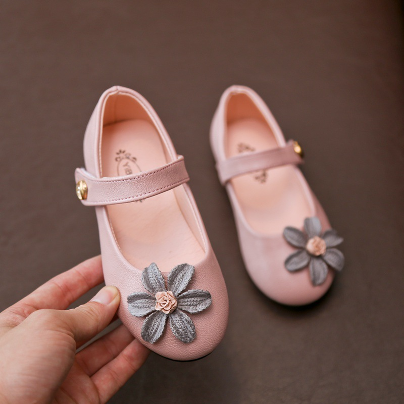 kids Korean version of the small flower girl shoes Flexible Fashion Children school student boys Shoes Size 27-31