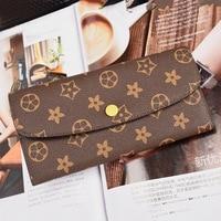 19 2cm 9 6cm 2 8cm 2018 Women Luxury Brand Design Long Design Wallet Female PU