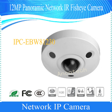 Free Shipping DAHUA 12MP Panoramic Network IR Fisheye Camera With POE IP67 IK10 Without Logo IPC-EBW81230