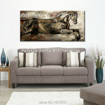 Oil painting On Canvas Wall Pictures Paintings For Living Room Wall Art Canvas Pop art Horse modern abstract hand painted 15