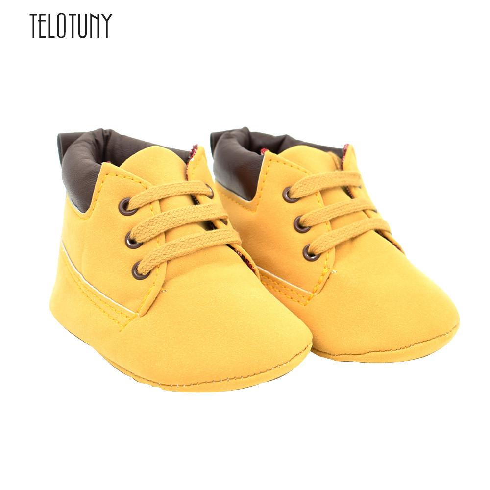 TELOTUNY Baby Toddler Soft Sole Leather Shoes Infant Boy Girl Toddler Shoes comfortable Soft Leather Crib Shoes S3FEB26