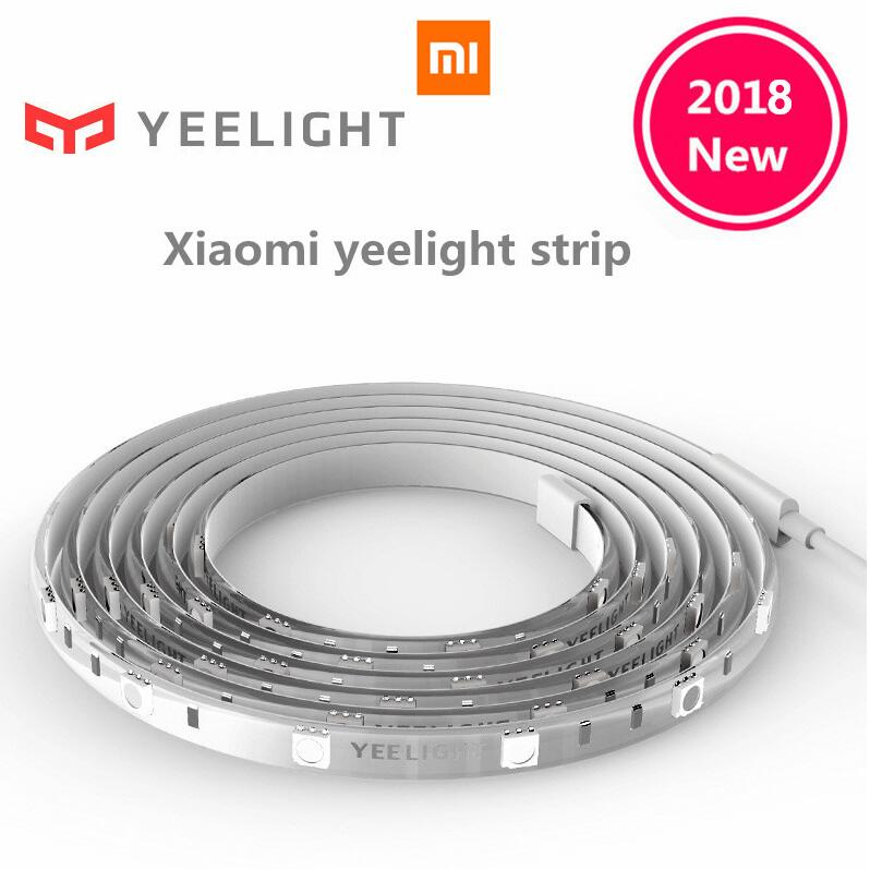 Original Xiaomi Yeelight RGB Intelligent light band Smart home Phone App wifi light strip Colorful lamb LED 2M 16 Million 60 Led original xiaomi yeelight led smart bulb colorful e27 9w 600 lumens mijia light xiaomi smart phone wifi remote control