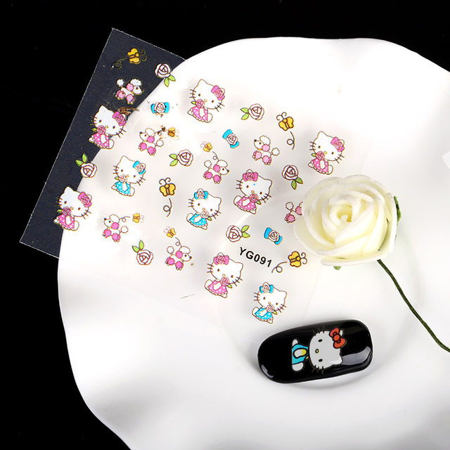Online Shop 24 Sheet Hello Kitty Design Decals Cat Model Stamping