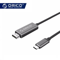 ORICO USB C to HDMI Cable Type C HDMI 4K 1080P 3D Cable for Samsung S8 S9 Note8 Hawei 10 P20 HD TV MacBook USB C HDMI Adapter