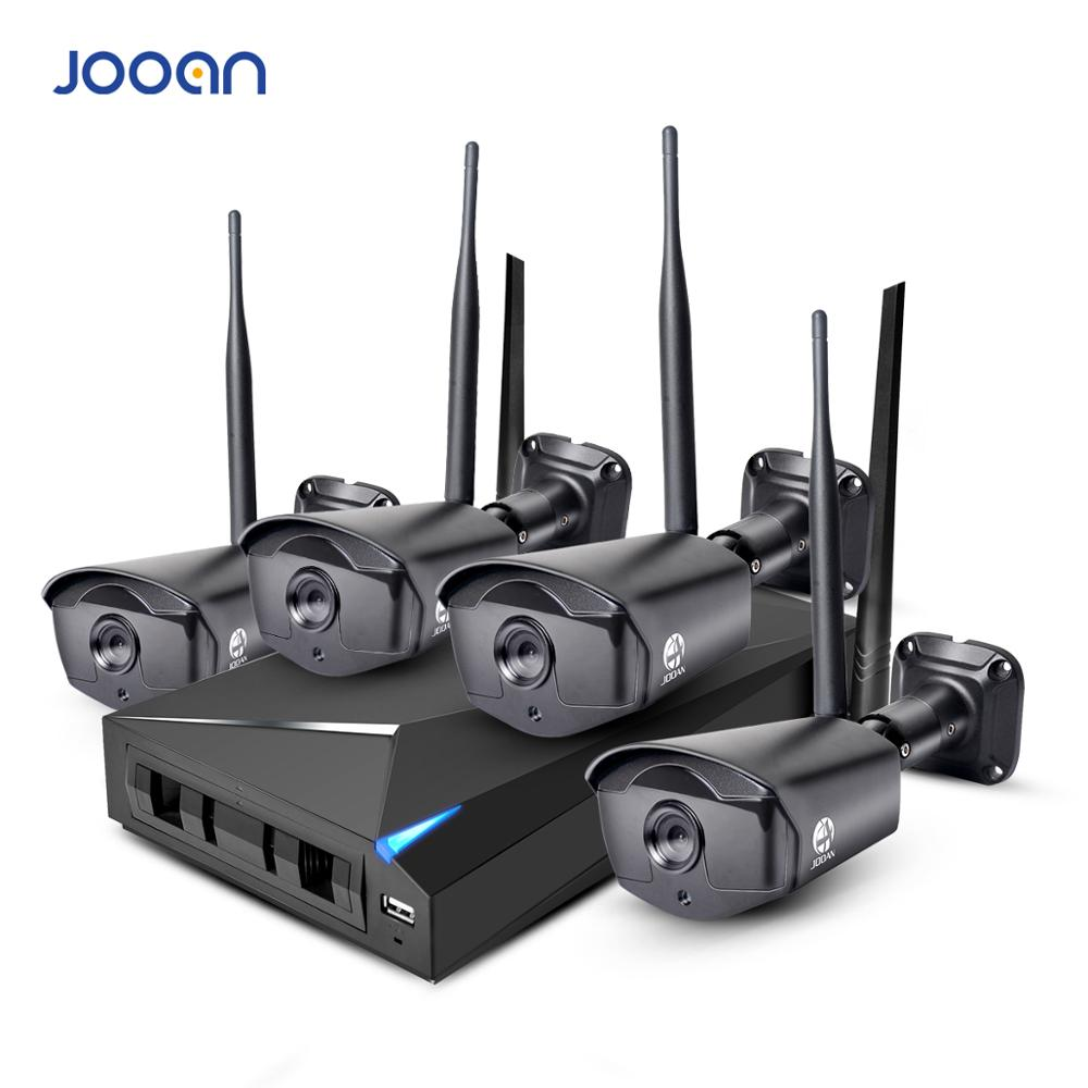 JOOAN Wireless Security Camera System 4CH CCTV NVR 1080P WIFI Outdoor Night Vision Network IP Camera Video Surveillance Kit