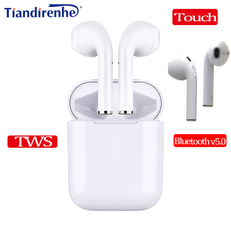 Mini EP010 TWS Bluetooth v5.0 Headphone Touch Headset Wireless Earbuds Stereo Earphone With Mic for iPhone Android PK i9s i7s i8 a7 tws wireless bluetooth headset stereo handfree sports bluetooth earphone with charging box for iphone android pk x2t i7 i7s