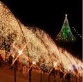 Venda quente 8 cores 100 M 600 luzes luzes do partido Led luzes de natal ao ar livre decoração de festa Twinkle cordas luzes 220 V