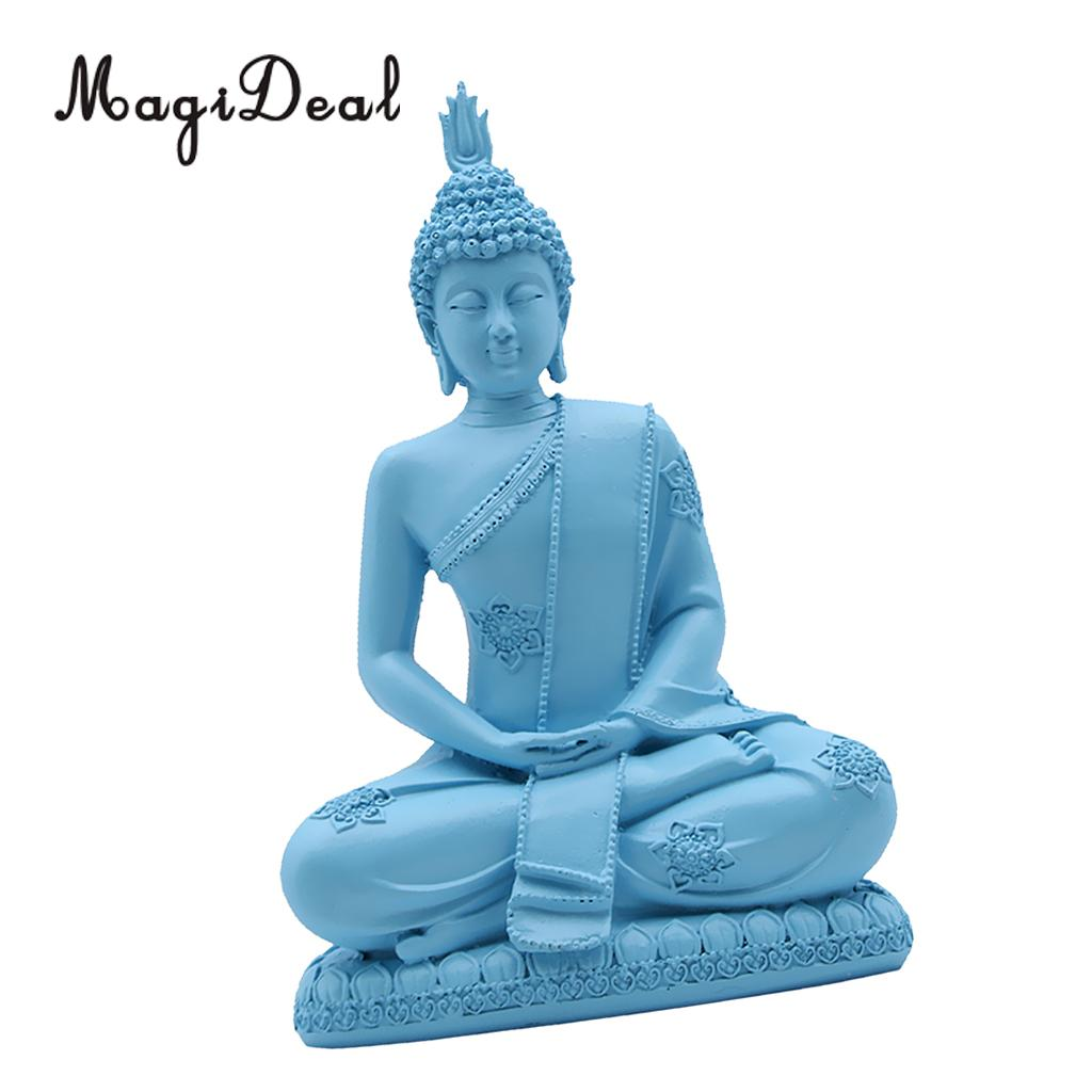 MagiDeal Handmade Resin Meditation Sitting Buddhism Statue Religious Buddha Figurine Home Art Decorative Ornaments