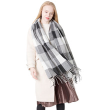 hot deal buy autumn and winter new college style plaid scarf male and female students couple plaid scarf acrylic shawl