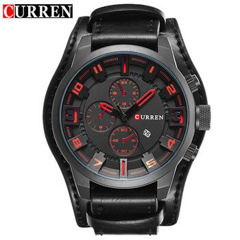 Luxury Brand CURREN Mens Watches Military Sports Men Watch Quartz Date Clock Casual Leather Wrist Watch Relogio Masculino 8225