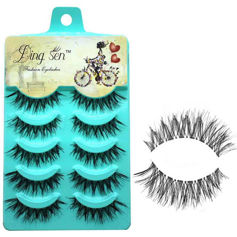 5 Pairs False Lashes Demi Beauty Makeup Fake Eye lashes Thick Long Black Nautral Handmade Extension High Quality