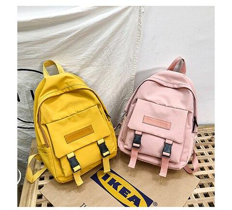 HTB1Cv1UXET1gK0jSZFhq6yAtVXaQ 2019 Backpack Women Backpack Fashion Women Shoulder Bag solid color School Bag For Teenage Girl Children Backpacks Travel Bag