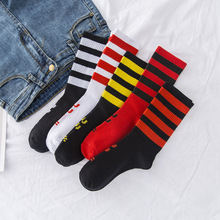 High Quality Cute Trend Stripe Kawaii Cartoon Sweet Harajuku Cotton Women Socks Casual Short Hot