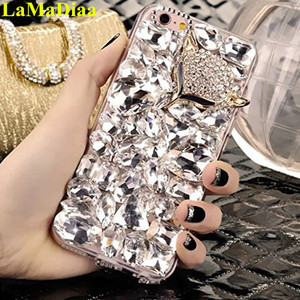 Image 3 - LaMaDiaa 3D Rhinestone Case for Samsung Galaxy J5 J4 J6 J7 J8 2018 A6 A8 A7 A5 A3 Bling Crystal Diamond Protective Shell Cover